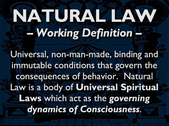 Natural Law Working Definition